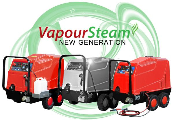Reduced water vapour steam cleaners