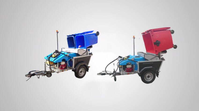 Petrol Powered Wheelie Bin Wash Custom Plus Bin Cleaning machine