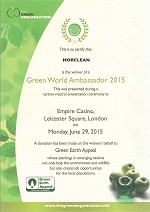 Morclean Awards Green World Ambassador Winners 2015