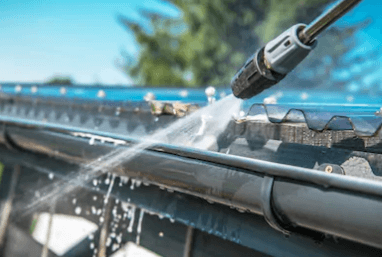 cold water pressure washer gutter cleaning