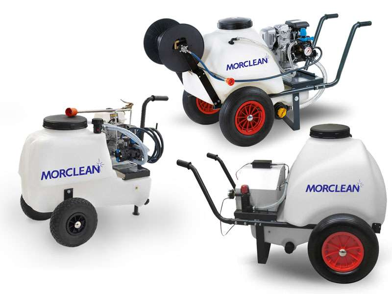 Mobile sanitation carts for cleaning and disinfection