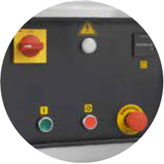 Low voltage (24V) control panel with star-delta system