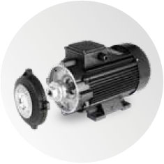 Motor pump coupling with a flexible joint
