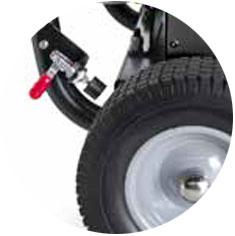 Rear wheel with brake