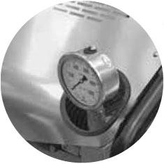 Stainless steel glicerine pressure gauge